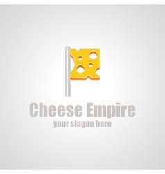 cheese empire logo vector image vector image