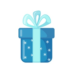 Christmas gift icon in flat style vector
