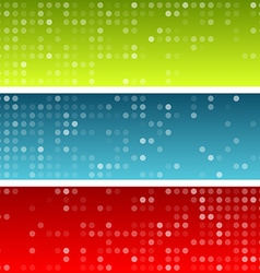 Circles technology banners vector