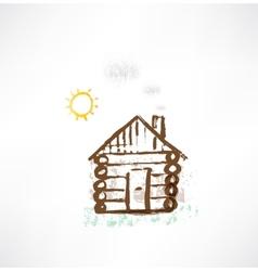 Cottage grunge icon vector
