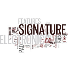 Electronic signature pad text background word vector