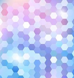Geometric shining pattern with hexagon vector image