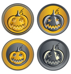 gold and silver coins vector image vector image