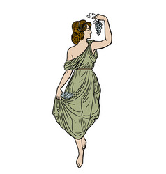 Greek woman vector