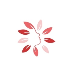 Isolated abstract pink color floral logo Round vector image vector image