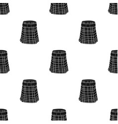 Kilt icon in black style isolated on white vector