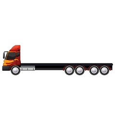 Lorry with many wheels vector image vector image