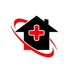 Medical logo icon house vector