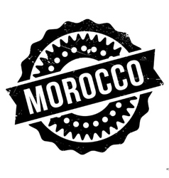 Morocco stamp rubber grunge vector