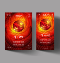 night club party flyer or poster layout template vector image