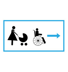 pass for the disabled and mother with child vector image