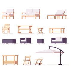 patio and outdoor furniture set vector image