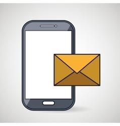 smartphone message envelope letter vector image vector image