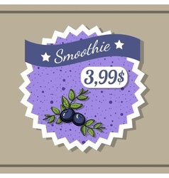 Smoothie sticker 8 vector