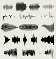 sound waves set Audio equalizer technology vector image vector image