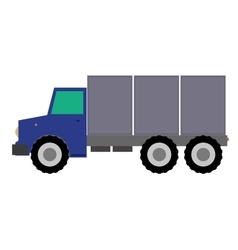 Truck flat design on white vector image