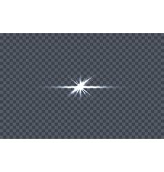 White Glowing Light Burst vector image
