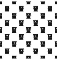 Bucket for hazardous waste pattern simple style vector