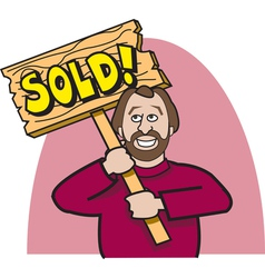 Realtor sold vector