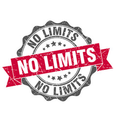 No limits stamp sign seal vector