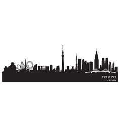 Tokyo Japan city skyline Detailed silhouette vector image