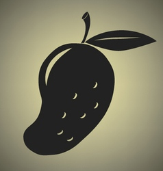 Mango icon vector