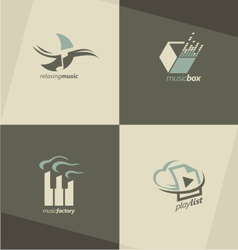 Musical logo design concepts vector