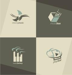 Musical logo design concepts vector image