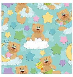 Seamless background for babies vector