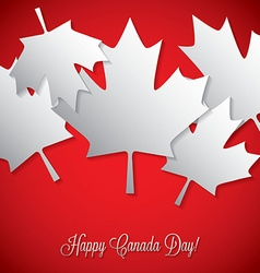 Overlay leaf canada day card in format vector