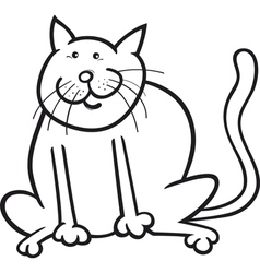 Funny sitting cat vector