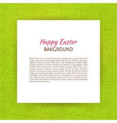 Paper over happy easter line art background vector
