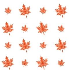 Autumn polygonal maple leaves seamless pattern vector