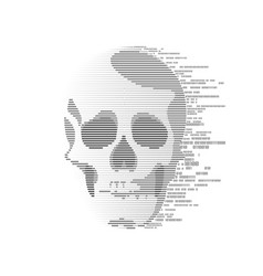 Binary skull vector