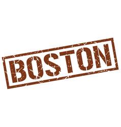 Boston brown square stamp vector