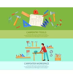 Carpentry banners set vector