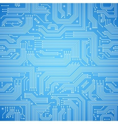 Circuit board seamless blue pattern vector