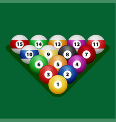 Complete billiard balls vector