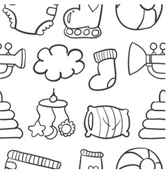 doodle of baby set collection stock vector image vector image