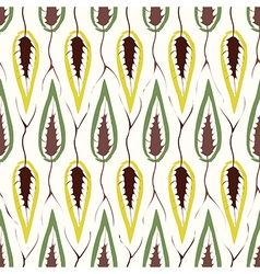 Floral seamless pattern retro fabric texture vector image