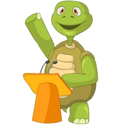 Funny Turtle Presentation vector image