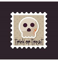 halloween skull stamp vector image