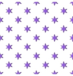 Heavenly six pointed star pattern cartoon style vector