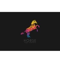 Horse logo emblem template Creative logo vector image