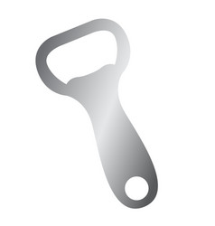 isolated bottle opener vector image