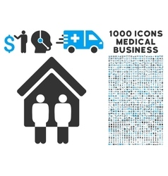Living Persons Icon with 1000 Medical Business vector image vector image