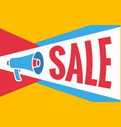 megaphone sale banner flat design vector image vector image