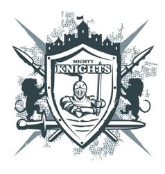 Mighty Knights Print vector image vector image