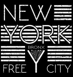 New york typography t shirt graphic vector
