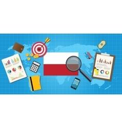 Polandia polish economy economic condition country vector